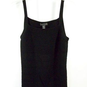 Cable & Gauge Black Ribbed Tank Top XL